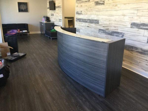 Potenza Curved Reception Desk